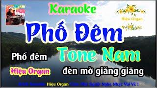 Karaoke 7979 Phố Đêm  Nhạc Sống Tone Nam || Hiệu Organ Guitar 7979