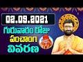 02 September 2021 Thursday Daily Panchangam  Telugu Panchangam Rasiphalalu Astro Syndicate