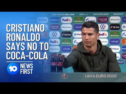 Cristiano Ronaldo Sends Coca-Cola Shares Diving After Euros Stunt | 10 News First
