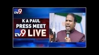 KA Paul Press Meet LIVE- Hyderabad..