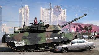 Crushing Cars in a Tank
