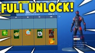 BUYING ALL 100 TIERS! Season 4 Battle Pass ALL ITEMS UNLOCKED! (Fortnite Battle Royale)