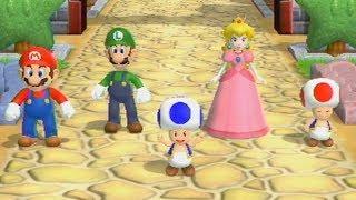 Mario Party 9 - Garden Battle - Mario Vs Luigi Vs Peach Vs Toad (Master Cpu)