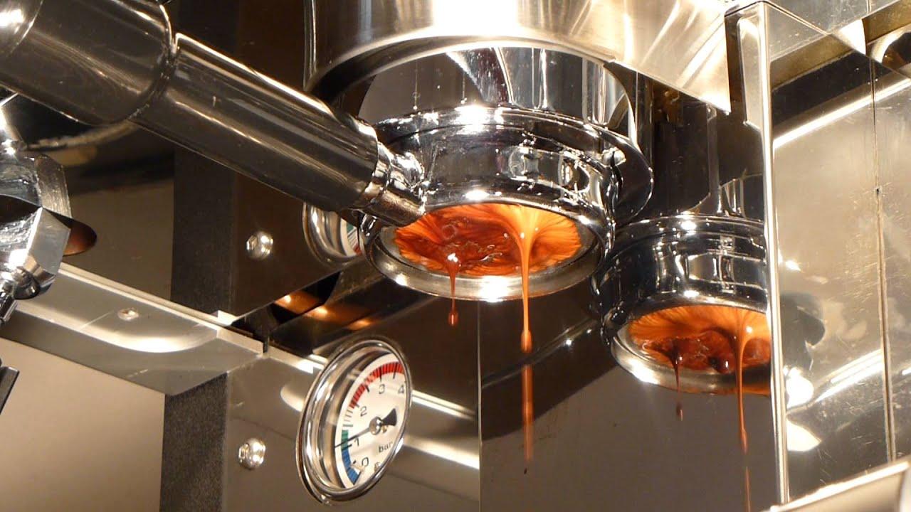 Espresso Extraction Through A Naked Portafila On A Pierro