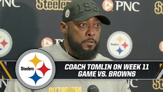 """Coach Tomlin: """"We weren't good enough tonight. I like the effort, but not enough playmaking."""""""