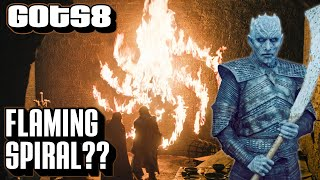 Flaming Spiral | Game of Thrones Season 8 | Night King Symbol Episode 1