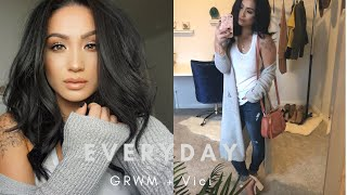 GRWM + Vici || My updated simple everyday makeup + hair routine!