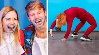 Try Not to Laugh Challenge / 12 Ideas to Make Friends Laugh