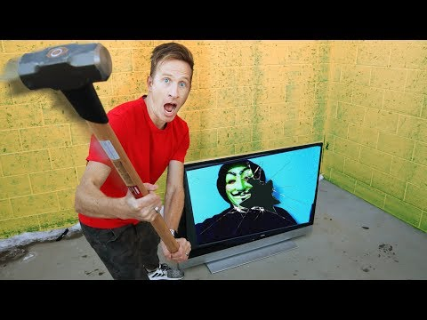 CAUGHT HACKER SPYING ON ME & DESTROYING TV HAMMER! TRACKING DEVICE PLACED ON PZ MEMBER