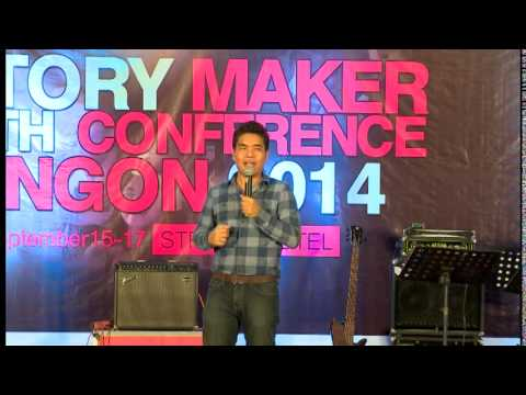 Pastor Sangpi @ Historymaker & Youth Confrence Yangon 2014 -Day-2