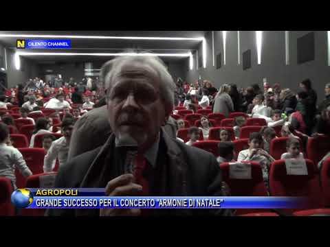 AGROPOLI, GRANDE SUCCESSO PER IL CONCERTO ARMONIE DI NATALE DELL'IC GINO ROSSI VAIRO.