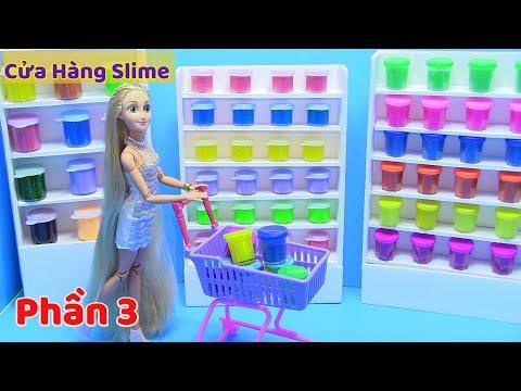 Hướng Dẫn Làm Cửa Hàng Slime (Phần 3) Hai Cha Con Ken Đi Mua Slime Về Cho Barbie - đồ chơi trẻ