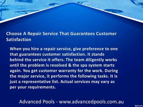 How to Choose the Right Spa Pump Repairs in Adelaide