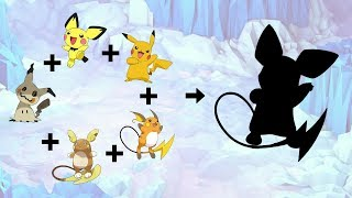 Requests #77 - Fusemon: Mimikyu + Pichu + Pikachu + Raichu + Alolan Raichu
