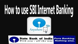 How to use SBI Internet Banking in  Mobile I State bank Anywhere I Money  Transfer