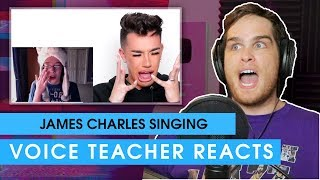 Voice teacher reacts to James Charles reacting to James Charles