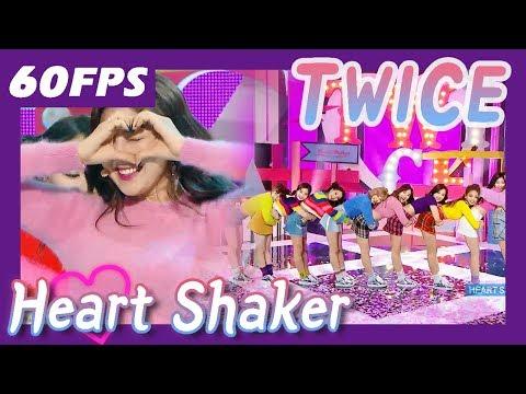 60FPS 1080P | TWICE - Heart Shaker, 트와이스 - 하트 셰이커 Show Music Core 20171216