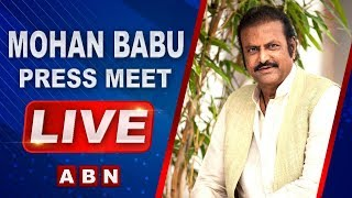 Mohan Babu Press Meet Live..
