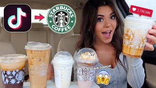 Trying VIRAL Tiktok STARBUCKS DRINKS!!