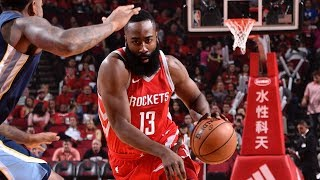 James Harden 38 Pts! 3rd Straight 30+ CP3 Update! Grizzlies vs Rockets 2017-18 Season