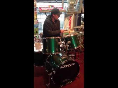 DXP drum kit demo at Guitar Village Frankston
