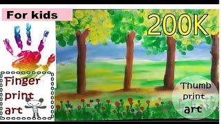 finger print art for kids/ easy thumb painting