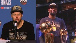 Stephen Curry Responds To Never Winning Finals MVP and Reacts To Kevin Durant's Finals MVP Award!