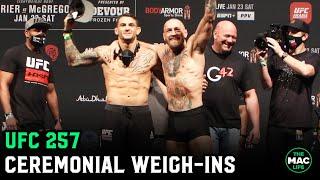 UFC 257: Conor McGregor vs. Dustin Poirier Ceremonial Weigh-Ins