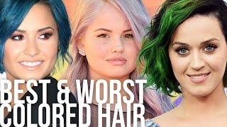 Best & Worst Weird Colored Celeb Hair Styles