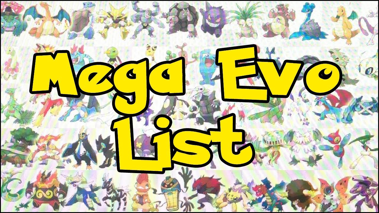 Pokemon X And Y Mega Evolutions List Images & Pictures - Becuo