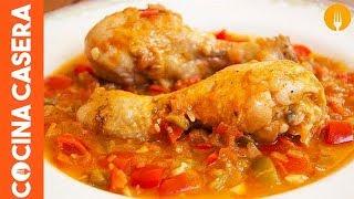 Pollo al Chilindrón casero. Recetas de cocina