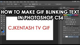 How to Make GIF Blinking Text in Photoshop CS6