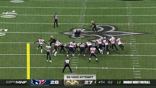 Will Lutz Game Winning 58 Yard Field Goal | Texans vs. Saints | NFL