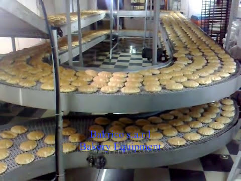 Shawarma Pocket Pita Bread Machine 4 Rows-Bakrico Bakery Equipment Lebanon.wmv
