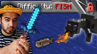 I Became a FISH and Killed the ENDER DRAGON (Minecraft Challenge)