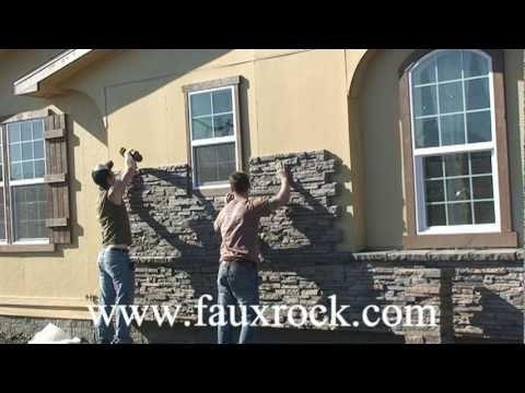 Installation Stacked Stone Veneer Panels Over Using