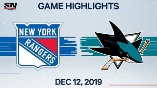 NHL Highlights | Rangers vs. Sharks – Dec. 12, 2019