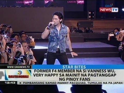 Former F4 member na si Vanness Wu, very happy sa mainit na pagtanggap ng Pinoy fans