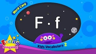 "Kids vocabulary compilation ver.2 - Words Cards starting with F, f - Repeat after ""Ting (sound)"""