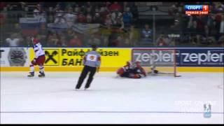Россия - США   6-1. Все голы. Чемпионат мира по хоккею 2014.