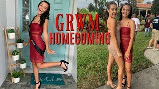 GRWM HOMECOMING HOCO 2019! MY FIRST HOCO! EMMA AND ELLIE