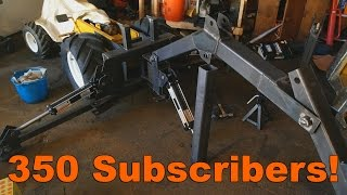 350 Subscribers! Also some bonus footage of Cub Cadet 149 TLB Transformation