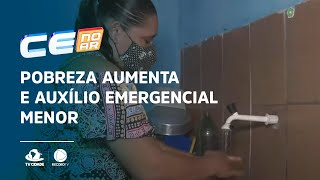 Pobreza aumenta e Auxílio Emergencial menor