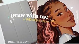 🍞iPad draw with me + ESR iPad cases unboxing