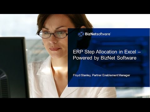 ERP Step Allocation in Excel Powered by BizInsight
