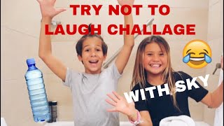 JT Church and Sky Brown TRY NOT TO LAUGH CHALLENGE - DWTS Junior Champions