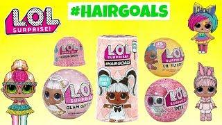 NEW LOL Surprise Dolls Unboxing #HAIRGOALS Glam Glitter LIL Sister Pets GOLDEN Hairgoals FOUND !!