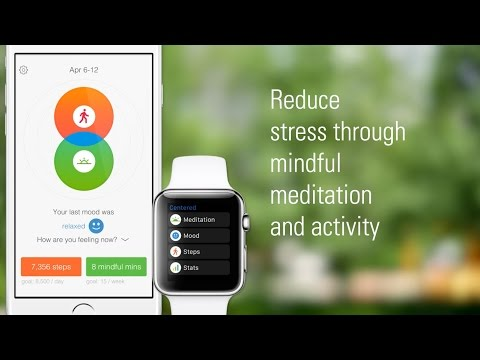 Centered for iPhone and Apple Watch offers consumers a stress management tool that supports positive behavior change through encouraging users to be more mindful of adding more physical activity to their day and taking time to practice mindfulness through guided sessions. Download Centered now: http://shout.lt/CSdZ.