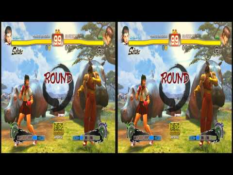 (3D & 4K) Super Street Fighter 4 3840x2160 Sakura vs Guy (Ultra HD) Oculus Rift