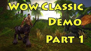 WOW Classic Demo Pt. 1 - The Barrens - World of Warcraft Classic - YouTube